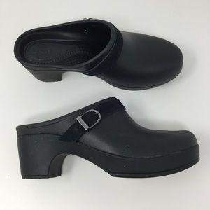 Crocs Black Slip On Mules Size 7